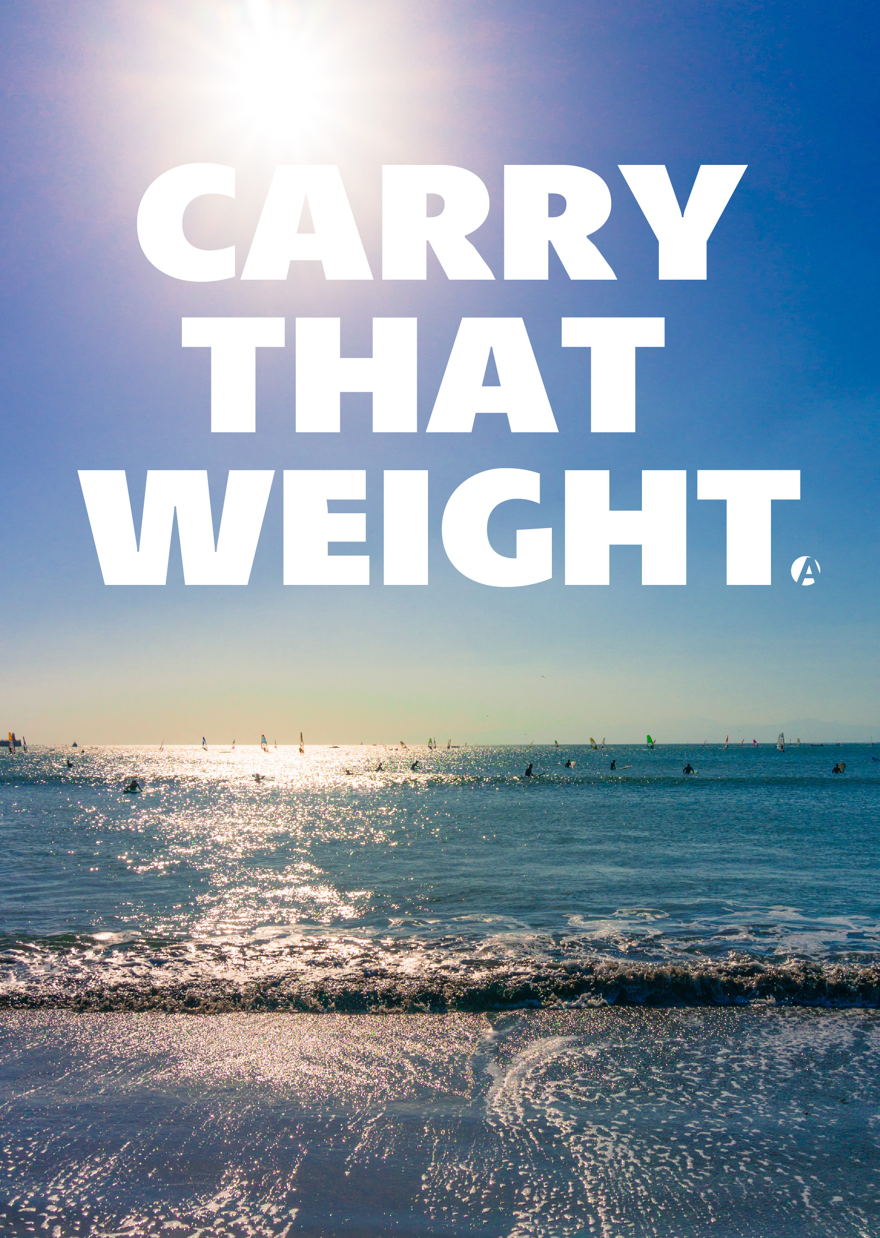 CARRY THAT WEIGHT グラフィックデザイン
