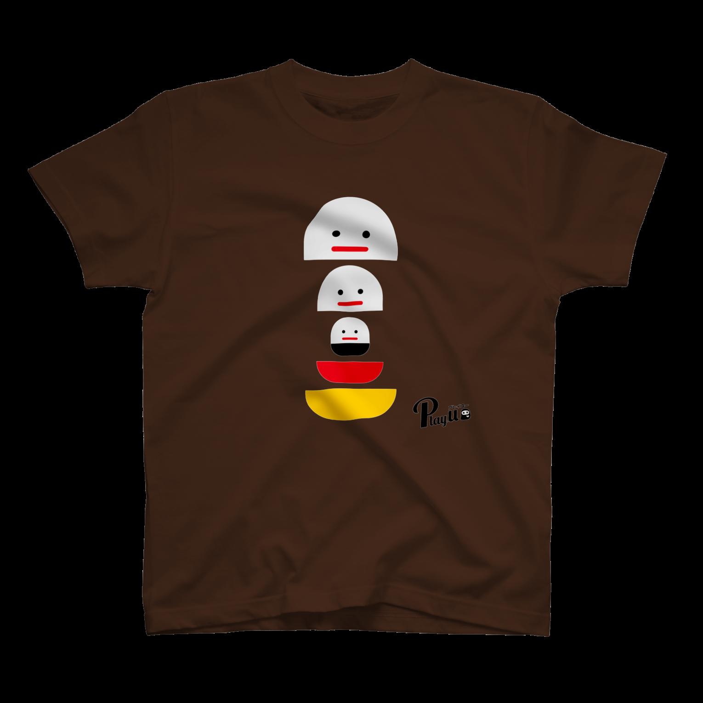 カプセルズ Tシャツ ダークブラウン
