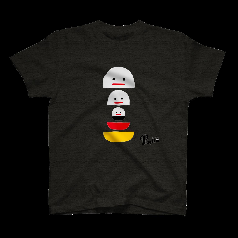 カプセルズ Tシャツ ヘザーブラック