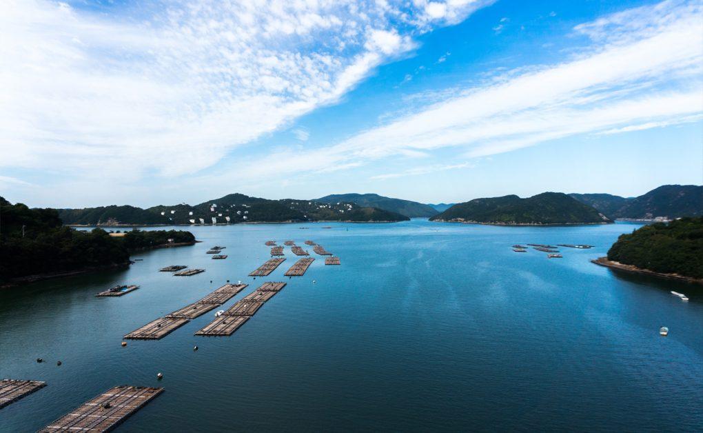 岡山県備前市日生町頭島大橋からの眺め