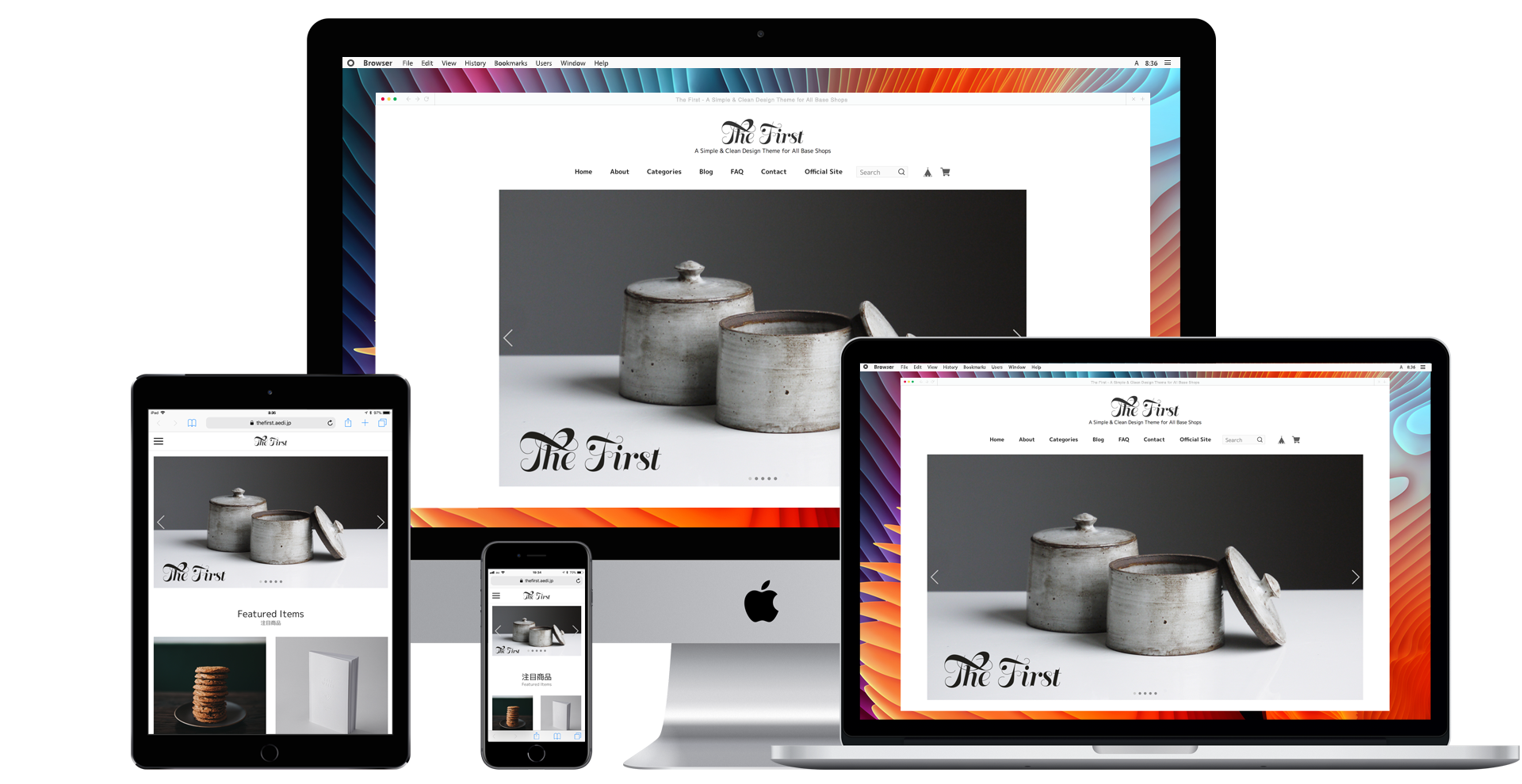 ECサイト制作・ショッピングサイト制作・オンラインショップ構築・ホームページ制作 ECサイトテーマ The First