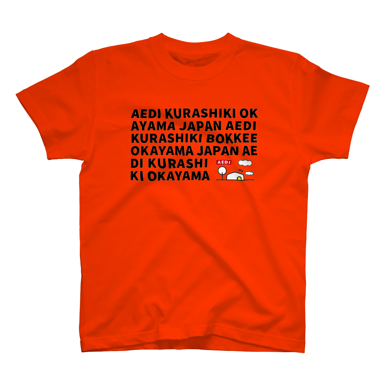 AEDI KURASHIKI BOKKEE OKAYAMA JAPAN Tシャツ カリフォルニアオレンジ
