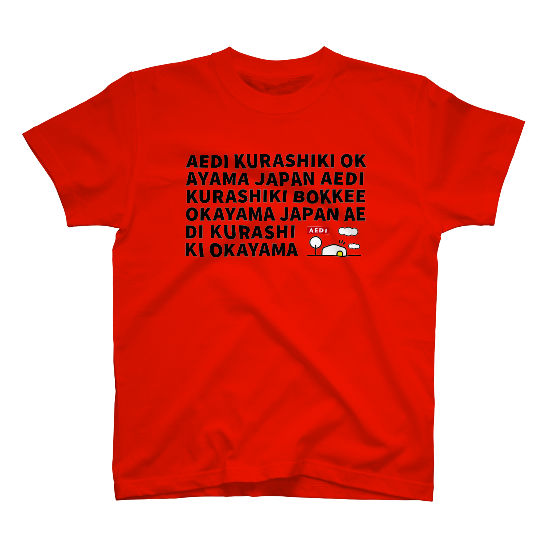 AEDI KURASHIKI BOKKEE OKAYAMA JAPAN Tシャツ レッド
