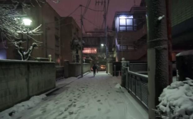 5年前の雪の夜 市ヶ谷