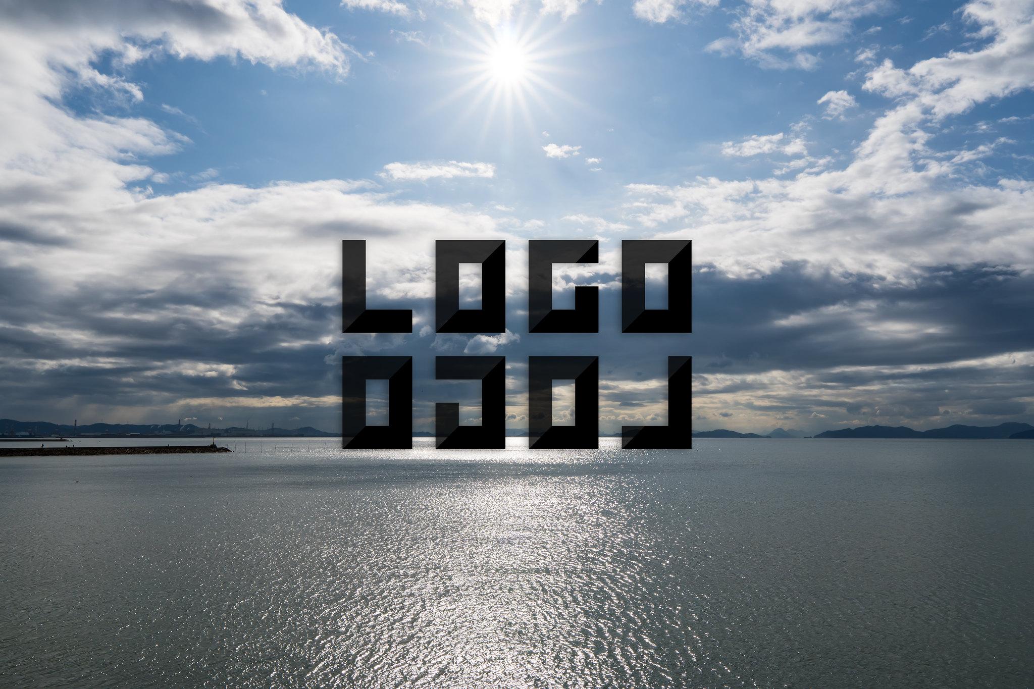 LOGLOGO「ロゴロゴ」用ビジュアル 岡山県倉敷市黒崎(沙美)からの瀬戸内海の眺め